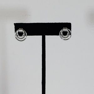 Silver Three Ring Earrings